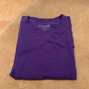 Grey's Anatomy Purple Scrub Top, size L